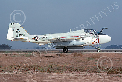 KA-6DUSN 00065 A taxing Gruman KA-6D Intruder USN 155597 VA-304 FIREBIRDS USS Independence NAS Pt Mugu 10-1989 military airplane picture by Sam Seizemore