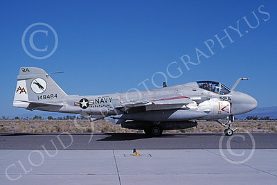 KA-6DUSN 00067 A taxing Gruman KA-6D Intruder USN 149484 VA-35 PANTHERS  USS Saratoga NAS Fallon 10-1991 military airplane picture by Michael Grove, Sr