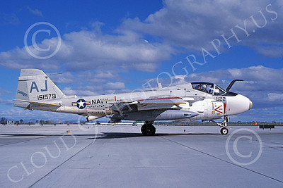 KA-6DUSN 00063 A taxing Gruman KA-6D Intruder USN 151579 VA-35 PANTHERS NAS Fallon 4-1986 military airplane picture by Michael Grove, Sr