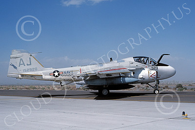 KA-6DUSN 00085 A taxing Gruman KA-6D Intruder USN 152920 VA-35 PANTHERS NAS Fallon 4-1986 military airplane picture by Michael Grove, Sr