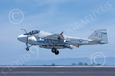 KA-6DUSN 00028 A landing Gruman KA-6D Intruder USN 15178 VA-35 PANTHERS AJ code NAS Fallon 5-1984 military airplane picture by Michael Grove, Sr