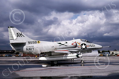 A-4USN 00104 A USN Douglas A-4C Skyhawk attack jet, 149558, VA-36 ROAD RUNNERS, USS Intrepid, NAS Miramar 2-1969, airplane picture, by Clay Janson