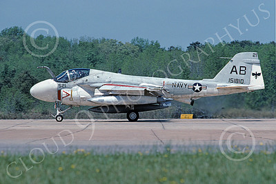 KA-6DUSN 00103 A taxing Gruman KA-6D Intruder USN 151810 USS America VA-45 BLACKBIRDS NAS Oceana 4-1991 military airplane picture by David F Brown