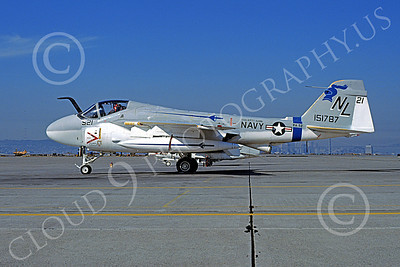 KA-6DUSN 00053 A static Gruman KA-6D Intruder USN 151787 VA-52 KNIGHTRIDERS USS Kitty Hawk NAS Alameda 10-1976 military airplane picture by Michael Grove, Sr