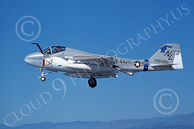 KA-6DUSN 00104 A landing Gruman KA-6D Intruder USN 149485 VA-52 KNIGHTRIDERS USS Kitty Hawk NAS Fallon 6-1980 military airplane picture by Michael Grove, Sr