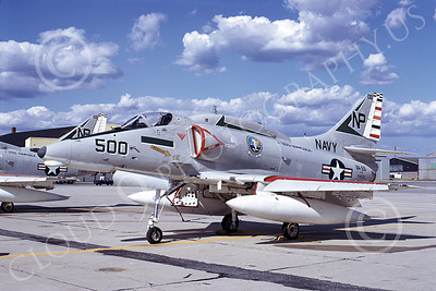 A-4USN 00168 A USN Douglas A-4F Skyhawk attack jet, 154173, VA-55 WARHORSES USS Hancock, commander's plane, airplane picture, by Michael Grove, Sr