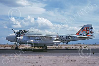 KA-6DUSN 00071 A taxing Gruman KA-6D Intruder USN 152893 VA-65 TIGERS USS Independence NAS Fallon 10-1976 military airplane picture by Michael Grove, Sr