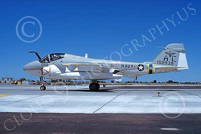 KA-6DUSN 00039 A taxing Gruman KA-6D Intruder USN 152939 VA-75 SUNDAY PUNCHERS NAS Fallon 7-1981 military airplane picture by Michael Grove, Sr