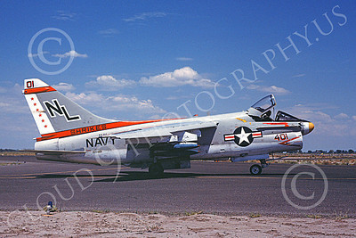 A-7USN 00109 A taxing Vought A-7E Corsair II USN 159981 VA-94 SHRIKES NAS Fallon 8-1978 military airplane picture by Michael Grove, Sr