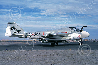 KA-6DUSN 00007 A taxing Gruman KA-6D USN 152920 VA-95 GREEN LIZARDS USS America NAS Fallon 11-1978 military airplane picture by Michael Grove, Sr