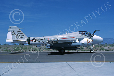 KA-6DUSN 00047 A taxing Gruman KA-6D USN 154154 VA-95 GREEN LIZARDS USS Enterprise NAS Fallon 5-1985 military airplane picture by Michael Grove, Sr
