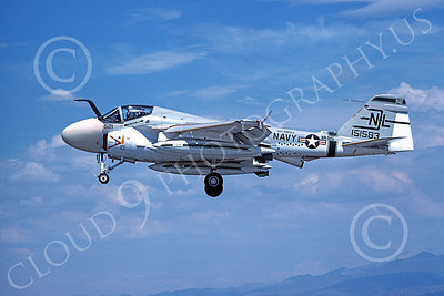 KA-6DUSN 00002 A landing Gruman KA-6D USN 151583 VA-95 GREEN LIZARDS USS America 8-1978 military airplane picture by Michael Grove, Sr