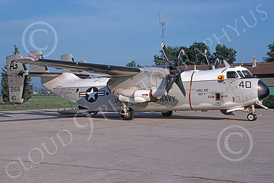 C-2 00069 A static Grumman C-2 Greyhound USN 162166 VRC-40 RAWHIDES USS George Washington 6-1994 military airplane picture by Michael Grove, Sr