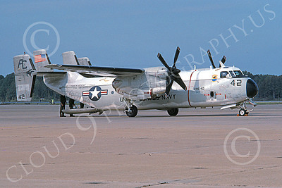 C-2 00063 A static Grumman C-2 Greyhound USN 162140 VRC-40 RAWHIDES USS George Washington NAS Oceana 10-1995 military airplane picture by Charels Clarke