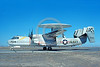 E-2USN 00129 A taxing Grumman E-2 Hawkeye USN 151720 VAW-111 SEA BAT USS Forrestal NAS Fallon 3-1976 military airplane picture by Michael Grove, Sr