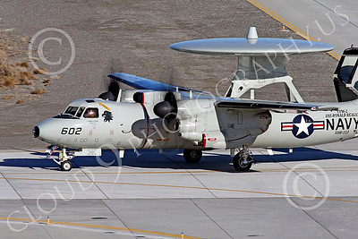 E-2USN 00271 A Grumman E-2C Hawkeye US Navy 165817 VAW-113 BLACK EAGLES USS Ronald Reagan taxis at NAS Fallon 1-2015 military airplane picture by Peter J Mancus