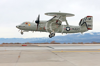 E-2USN 00076 A landing Grumman E-2C Hawkeye USN VAW-116 Sun Kings USS Carl Vinson NAS Fallon 11-2013 military airplane picture by Peter J Mancus