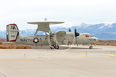 E-2USN 00207 A taxing Grumman E-2C Hawkeye USN VAW-116 Sun Kings USS Carl Vinson NAS Fallon 11-2013 military airplane picture by Peter J Mancus