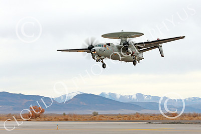 E-2USN 00154 A landing Grumman E-2C Hawkeye USN VAW-116 Sun Kings USS Carl Vinson NAS Fallon 11-2013 military airplane picture by Peter J Mancus
