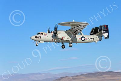 E-2USN 00062 A landing Grumman E-2C Hawkeye USN 164494 VAW-124 BEAR ACES USS George H W Bush AJ code NAS Fallon 10-2013 military airplane picture by Peter J Mancus