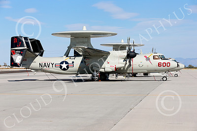 E-2USN 00203 A static Grumman E-2C Hawkeye USN 164353 VAW-124 BEAR ACES USS George H W Bush AJ code NAS Fallon 10-2013 military airplane picture by Peter J Mancus