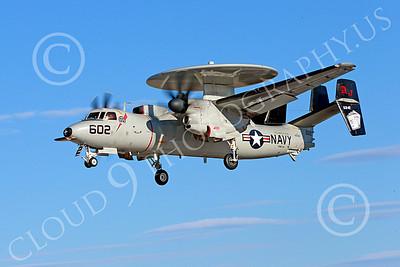 E-2USN 00164 A landing Grumman E-2C Hawkeye USN VAW-124 BEAR ACES USS George H W Bush AJ code NAS Fallon 10-2013 military airplane picture by Peter J Mancus