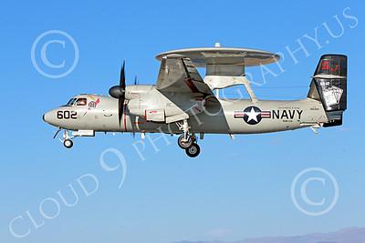 E-2USN 00110 A landing Grumman E-2C Hawkeye USN 165302 VAW-124 BEAR ACES USS George H W Bush AJ code NAS Fallon 10-2013 military airplane picture by Peter J Mancus