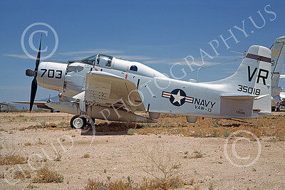 A-1USN 00023 Douglas EA-1F Skyraider USN 135018 VAW-13 ZAPPERS D-M AFB 18 June 1973, by Robert L Lawson
