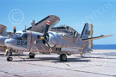 S-2USN 00045 A static Grumman S-2E Tracker USN 151672 VS-72 AW code 8-1974 military airplane picture by Don Spering