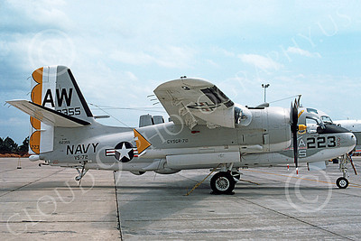 S-2USN 00049 A static Grumman S-2E Tracker USN 152355 VS-72 NAS Atlanta 4-1975 military airplane picture by Ray R Leader