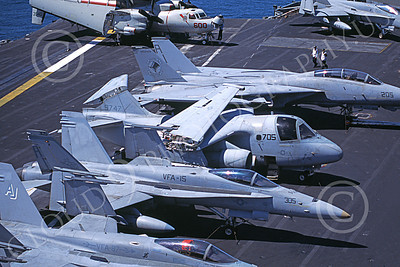 S-3USN 00099 A static Lockheed S-3 Viking USN VS-24 DUTY CATS on an aircraft carrier 6-2001 military airplane picture by Luke Franklin
