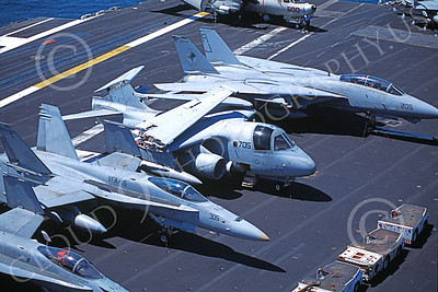 S-3USN 00023 A static Lockheed S-3 Viking USN VS-24 DUTY CATS on an aircraft carrier 6-2001 military airplane picture by Luke Franklin