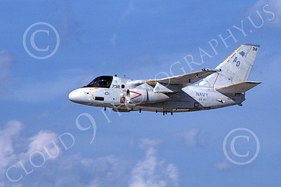 S-3USN 00120 A flying Lockheed S-3 Viking USN 160122 VS-27 GRIM WATCHDOGS 7-1989 military airplane picture by Barry E Roop