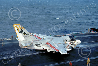 S-3USN 00171 A Lockheed S-3A Viking USN 0593 VS-28 PROFESSIONALS USS Carl Vinson 7-1983 military airplane picture by Tom Chee