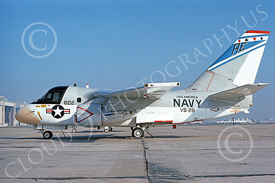 S-3USN 00129 A static Lockheed S-3A Viking USN 159730 VS-28 PROFESSIONALS USS America NAS Moffett 3-1976 military airplane picture by Michael Grove, Sr