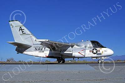 S-3USN 00227 A taxing Lockheed S-3 Viking USN 159765 VS-28 PROFESSIONALS USS Independence NAS Fallon 10-1981 military airplane picture by Michael Grove, Sr