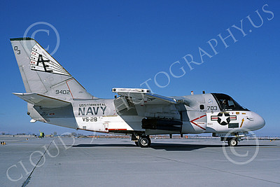 S-3USN 00219 A taxing Lockheed S-3 Viking USN 159402 VS-28 PROFESSIONALS USS Forrestal NAS Fallon 11-1985 military airplane picture by Michael Grove, Sr