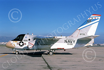 S-3USN 00165 A static Lockheed S-3A Viking USN 159733 VS-28 PROFESSIONALS USS America NAS Moffett 3-1976 military airplane picture by Michael Grove, Sr