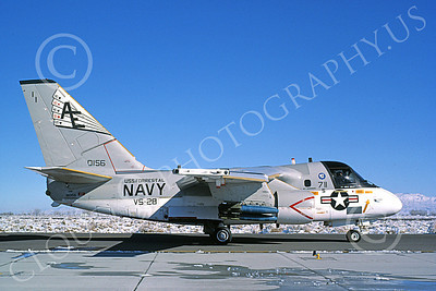 S-3USN 00217 A taxing Lockheed S-3 Viking USN 160156 VS-28 PROFESSIONALS USS Forrestal NAS Fallon 11-1985 military airplane picture by Michael Grove, Sr