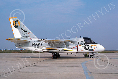 S-3USN 00163 A static Lockheed S-3A Viking USN 160580 VS-29 TROMBONERS USS Carl Vinson 7-1985 military airplane picture by Donals S McGarry