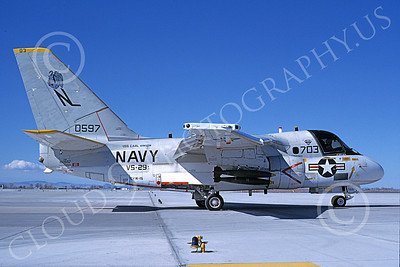 S-3USN 00051 A taxing Lockheed S-3 Viking USN 0597 VS-29 TROMBONERS USS Carl Vinson NAS Fallon 6-1995 military airplane picture by Michael Grove, Sr