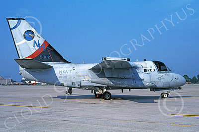 S-3USN 00025 A static Lockheed S-3 Viking USN 159387 VS-29 TROMBONERS USS Carl Vinson NAS North Island 7-1999 military airplane picture by Dan Deavers