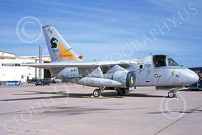 S-3USN 00005 A static Lockheed S-3 Viking USN 0569 VS-29 TROMBONERS NAS North Island 5-2002 military airplane picture by Bob Shane