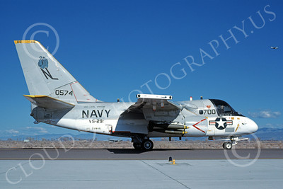 S-3USN 00131 A taxing Lockheed S-3A Viking USN 160574 VS-29 TROMBONERS USS Carl Vinson military airplane picture by Michael Grove, Sr
