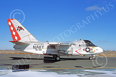 S-3USN 00117 A taxing Lockheed S-3A Viking USN 160125 VS-30 DIAMOND CUTTERS USS Saratoga NAS Fallon 2-1985 military airplane picture by Michael Grove, Sr