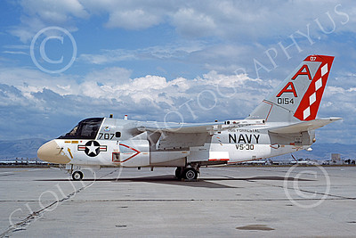 S-3USN 00107 A static Lockheed S-3A Viking USN 160154 VS-30 DIAMOND CUTTERS USS Forrestal NAS Moffett 5-1977 military airplane picture by Michael Grove, Sr