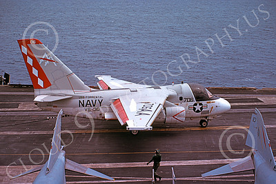 S-3USN 00183 A taxing Lockheed S-3A Viking USN VS-30 DIAMOND CUTTERS USS Forrestal 11-1985 military airplane picture by Bill Jacobson