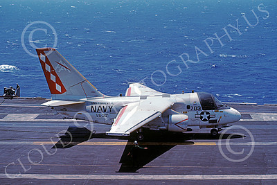 S-3USN 00173 A taxing Lockheed S-3A Viking USN VS-30 DIAMOND CUTTERS USS Forrestal 4-1982 military airplane picture by Walt Fisher
