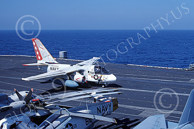 S-3USN 00187 A Lockheed S-3A Viking USN VS-30 DIAMOND CUTTERS USS Saratoga 11-1984 military airplane picture by Arnold Hale