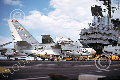 S-3USN 00105 A static Lockheed S-3A Viking USN 160144 VS-30 DIAMOND CUTTERS commanding officer's USS Forrestal 6-1980 military airplane picture by Robert Fox